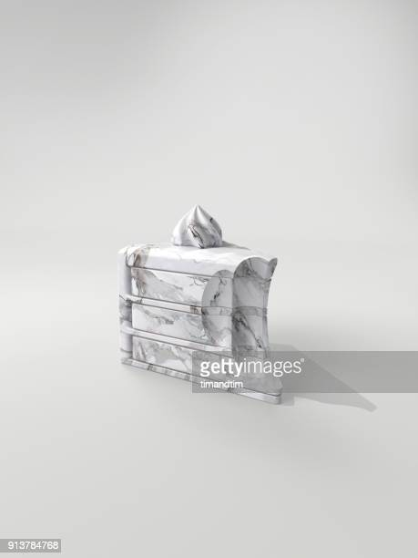 Cake made of marble with bite