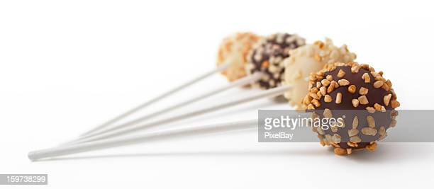 Cake pop - White and black chocolate with nuts