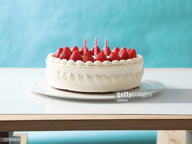 Cake with blue background