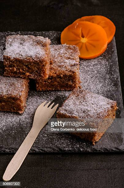 Cake with persimmon