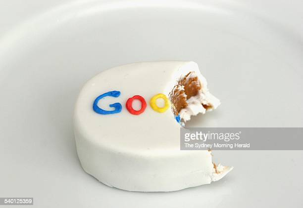 A Cake with the Google logo made of icing sugar at the launch of Google Australian headquaters in Sydney 16 May 2006 SMH Picture by DOMINO POSTIGLIONE