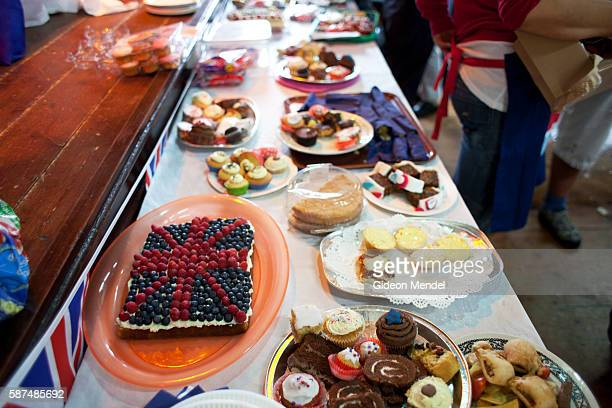 A cake with the Union Jack made out of berries is one of the many cakes made by residents of Ruan Minor to be served at a local celebration and...