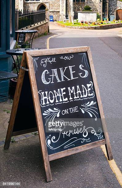 Cakes Home-made on the Premises - sign