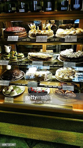 Cakes In Display Cabinet For Sale