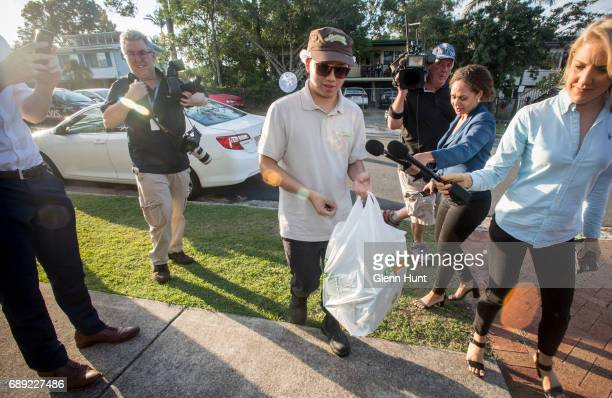 Cakeshop delivery man delivers an order of cakes to Schapelle Corby's mother's house on May 28 2017 in Brisbane Australia Schapelle Corby was...