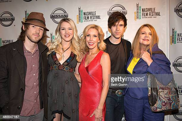 Cal Campbell Ashley Campbell Kim Campbell Shannon Campbell and Kelli Campbell attends day 2 of the 2014 Nashville Film Festival at Regal Green Hills...