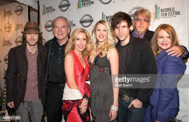 Cal Campbell James Keach Kim Campbell Ashley Campbell Shannon Campbell Trevor Albert and Kelli Campbell attends day 2 of the 2014 Nashville Film...