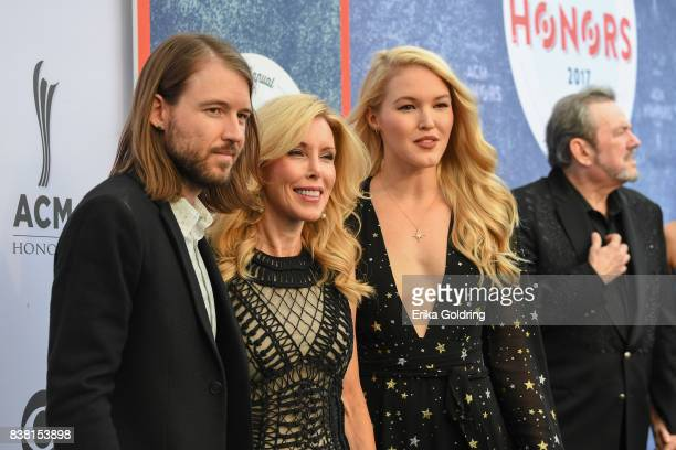 Cal Campbell Kim Campbell Ashley Campbell and Jimmy Webb attend the 11th Annual ACM Honors at the Ryman Auditorium on August 23 2017 in Nashville...
