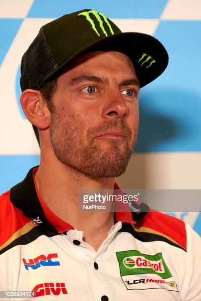 Cal Crutchlow of England and LCR Honda Castrol in the press conference before of the Gran Premio Movistar de Aragon of world championship of MotoGP...