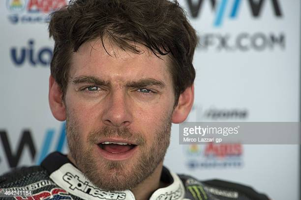 Cal Crutchlow of Great Britain and CWM LCR Honda looks on in box during the MotoGP Tests in Sepang Day One at Sepang Circuit on February 23 2015 in...