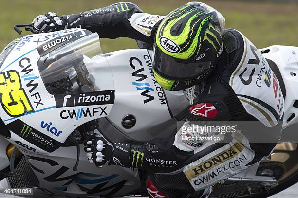 Cal Crutchlow of Great Britain and CWM LCR Honda rounds the bend during the MotoGP Tests in Sepang Day One at Sepang Circuit on February 23 2015 in...