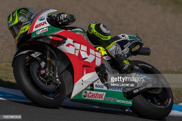 Cal Crutchlow of Great Britain and LCR Honda rounds the bend during the MotoGP of Japan Qualifying at Twin Ring Motegi on October 20 2018 in Motegi...