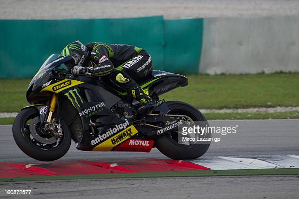 Cal Crutchlow of Great Britain and Monster Yamaha Tech 3 heads down a straight during the MotoGP Tests in Sepang Day Five at Sepang Circuit on...