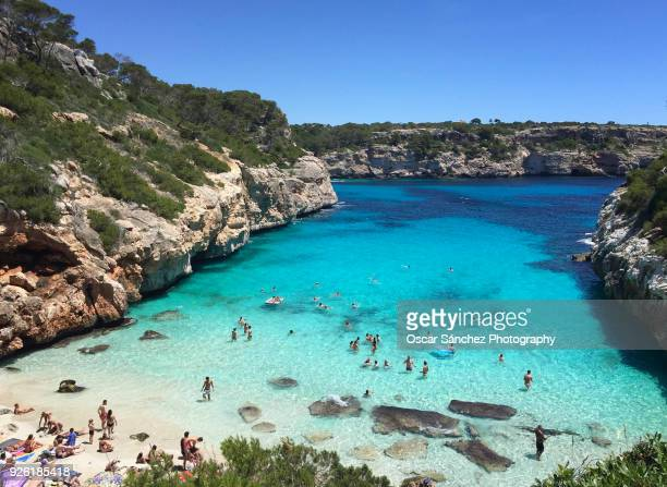 caló des moro, majorca - balearic islands stock pictures, royalty-free photos & images