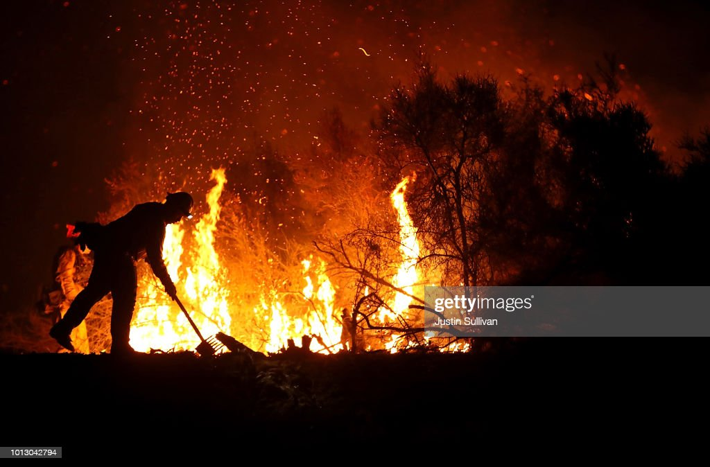 Mendocino-Complex Fire In Northern California Grows To Largest Fire In State's History : News Photo