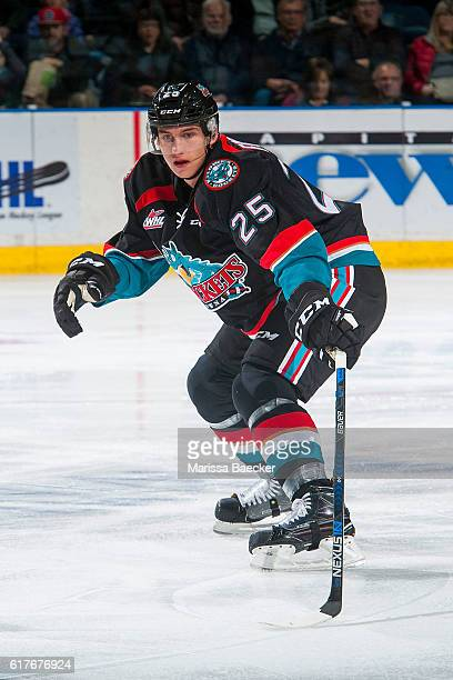Cal Foote of the Kelowna Rockets skates against the TriCity Americans on October 21 2016 at Prospera Place in Kelowna British Columbia Canada Foote...
