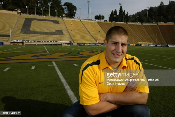 Cal Golden Bears football lineman Alex Mack is photographed at the Memorial Stadium in Berkeley, Calif., on December 12, 2008. Mack recently was...
