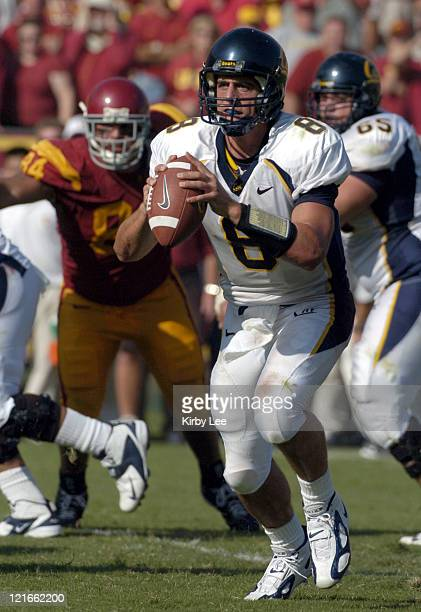 Cal junior quarterback Aaron Rodgers during 2317 loss to USC in Pac10 Conference football game at the Los Angeles Memorial Colisuem on Saturday Oct 9...