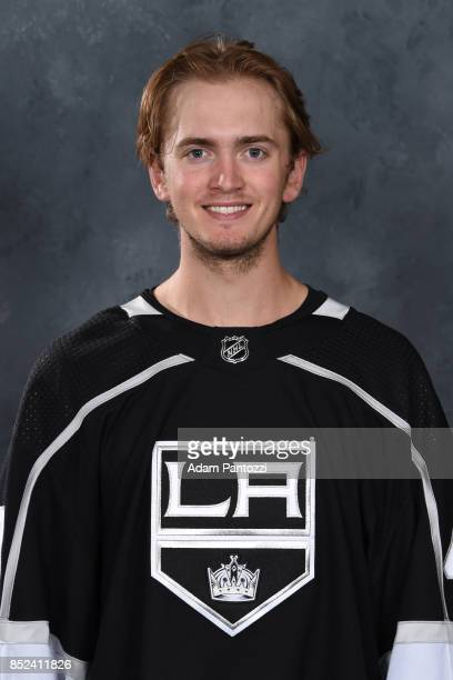 Cal Petersen of the Los Angeles Kings poses for his official headshot for the 20172018 season on September 07 2017 at the Toyota Sports Center in El...