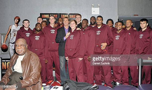 Cal Ramsey Kevin Laue and the Fordham basketball team attend the Long Shot The Kevin Laue Story New York Premiere at Quad Cinema on October 26 2012...