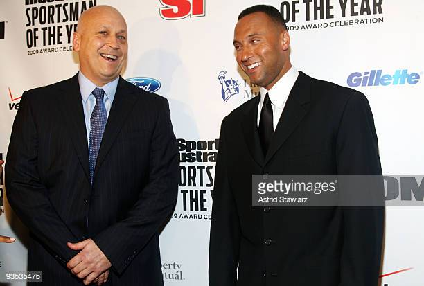 Cal Ripken Jr and 2009 Sports Illustrated Sportsman of the Year Derek Jeter attend the 2009 Sports Illustrated Sportsman of the Year Celebration at...