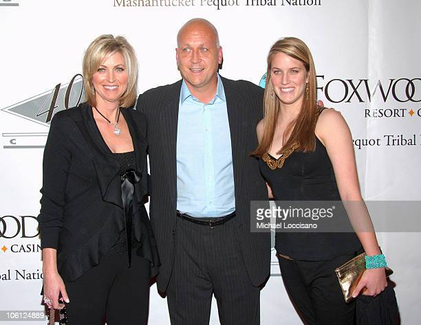 Cal Ripken Jr. And Family during Alex Rodriguez's Charity Celebrity Poker Tournament - Arrivals at 40/40 Club in New York City, New York, United...