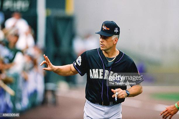Cal Ripken Jr. Of the Baltimore Orioles during the All-Star Game on July 7, 1998 at Coors Field in Denver, Colorado.