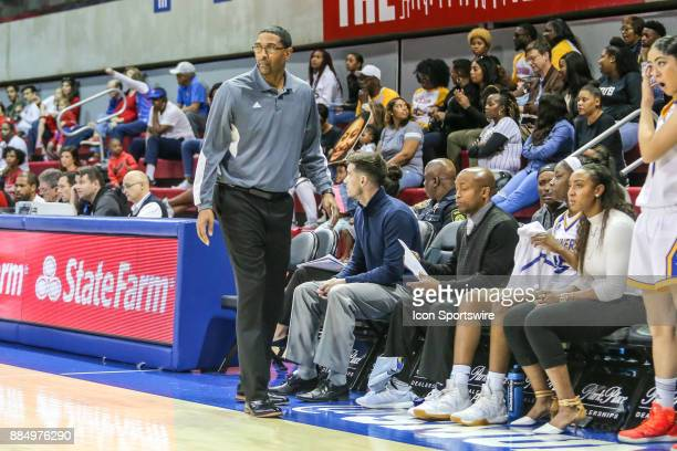 Cal State Bakersfield Roadrunners head coach Greg McCall looks on during the game between SMU and Cal State Bakersfield on December 3 2017 at Moody...