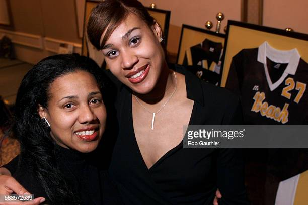 Cal State Long Beach Volleyball star Cheryl Weaver right with her mother Sheila at the school's annual team banquet Monday February 4 2002