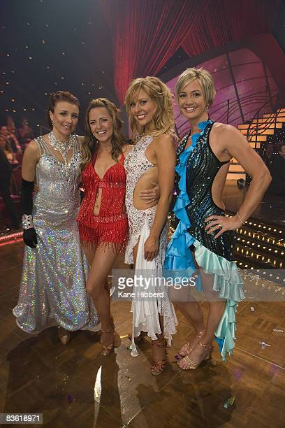 Cal Wilson Toni Pearen Charli Delaney and Brooke Hanson attend the grand final event for Dancing With The Stars 2008 at the Channel Seven studios on...