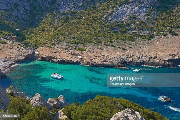 Cala Figuera Cabo de Formentor Formentor Cape Serra de Tramuntana UNESCO World Heritage Site Mallorca Island Majorca Balearic Islands Spain Europe