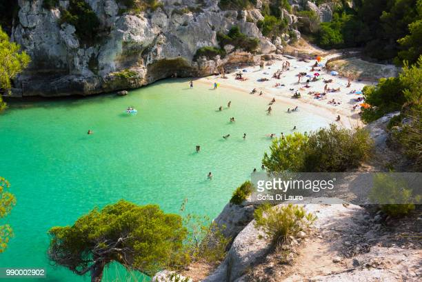 cala macaralleta - lauro stock pictures, royalty-free photos & images