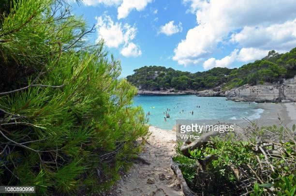 Cala Macarella, popular beach on the south of Menorca.