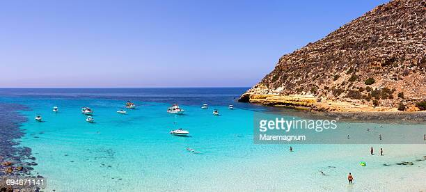 Cala Pulcino beach, marine natural reserve
