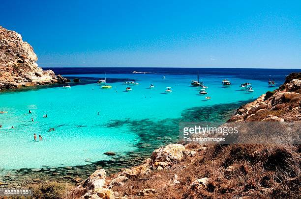 Cala Pulcino Lampedusa Pelagie Islands Sicily Italy