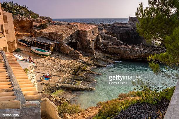 cala s`almunia bay on mallorca - fishing village stock pictures, royalty-free photos & images