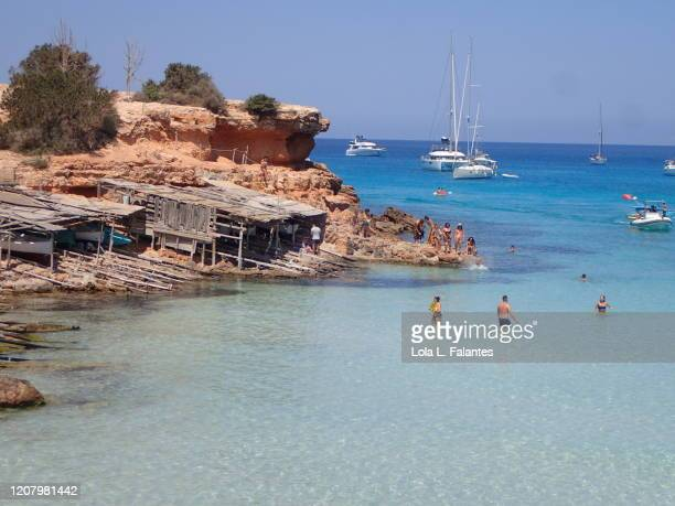 cala saona beach , formentera island - lola lane stock pictures, royalty-free photos & images