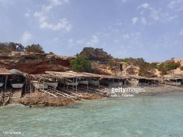 cala saona, formentera island - lola lane stock pictures, royalty-free photos & images