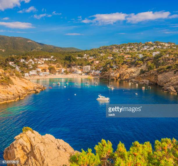 cala vadella on ibiza - ibiza island stock pictures, royalty-free photos & images