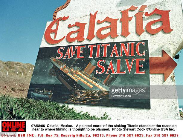 Calafia, Mexico. A mural painted by the roadside near to where filming is thought nto be taking place.