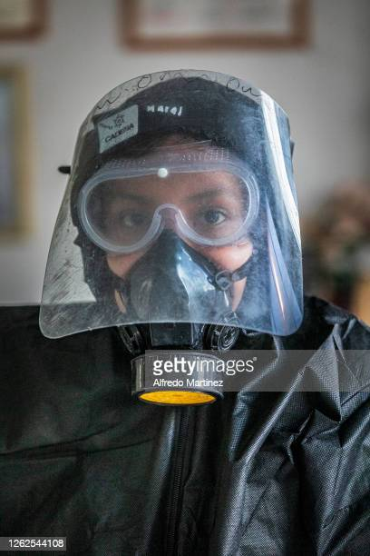Calafia paramedic wearing PPE poses for a portrait on July 28, 2020 in La Paz, Mexico. Many Mexican States remain in orange emergency while in some...