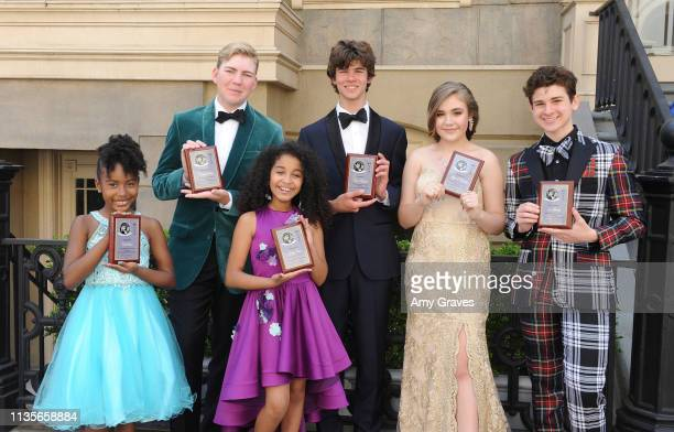 Calah Lane Connor Dean Chase Mangum Alyssa de Boisblanc Jax Malcolm and Jordyn Curet attend the 2019 Young Entertainer Awards at Steven J Ross...