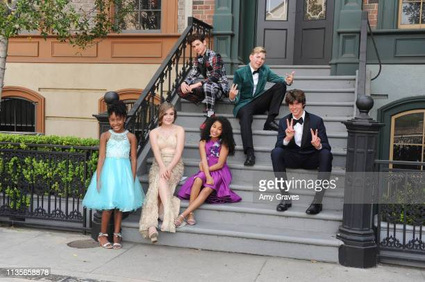 Calah Lane Jax Malcolm Connor Dean Alyssa de Boisblanc Jordyn Curet and Chase Mangum attend the 2019 Young Entertainer Awards at Steven J Ross...