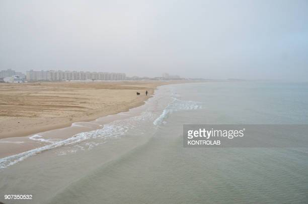 Calais beach Every day the migrants try to board the ships that leave to Dover Harbor England