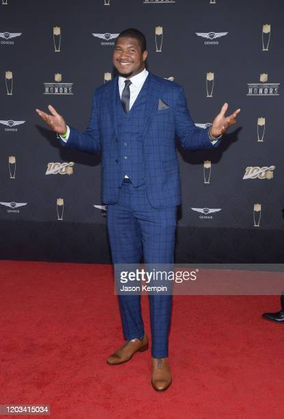Calais Campbell attends the 9th Annual NFL Honors at Adrienne Arsht Center on February 01 2020 in Miami Florida