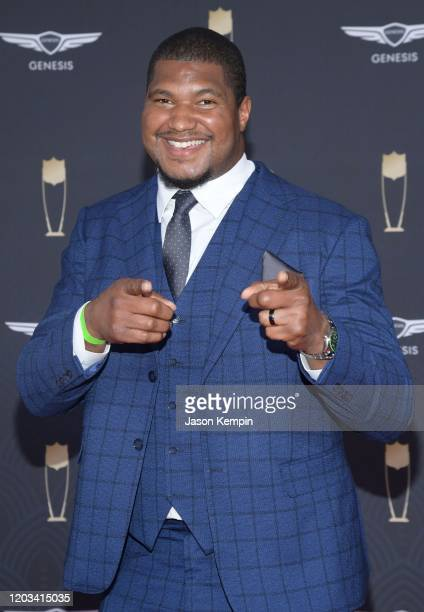 Calais Campbell attends the 9th Annual NFL Honors at Adrienne Arsht Center on February 01, 2020 in Miami, Florida.