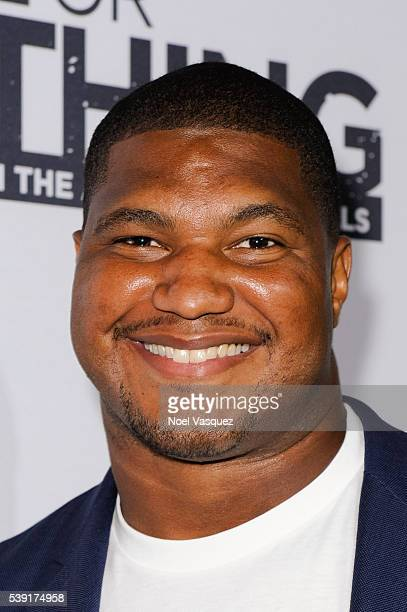 Calais Campbell attends the premiere of 'All or Nothing' at Regal Cinemas LA Live on June 9 2016 in Los Angeles California