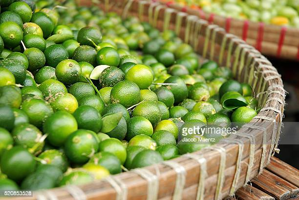 Calamansi in a basket (Calamondin)