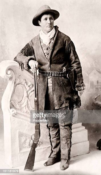 Calamity Jane born Martha Jane Canary photographed in 1895 She was an American frontierswoman and professional scout a native American fighter...