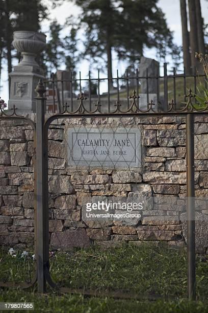 Calamity Jane's Burial Site on Boot Hill in Mount Moriah Cemetery Deadwood South Dakota